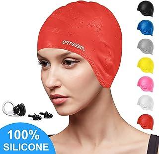 arteesol Swimming Cap, Silicone Swim Cap for Women Men,...