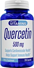 Quercetin 500mg 200 Capsules (Non GMO & Gluten Free) Natural Antihistamine Quercetin Supplement