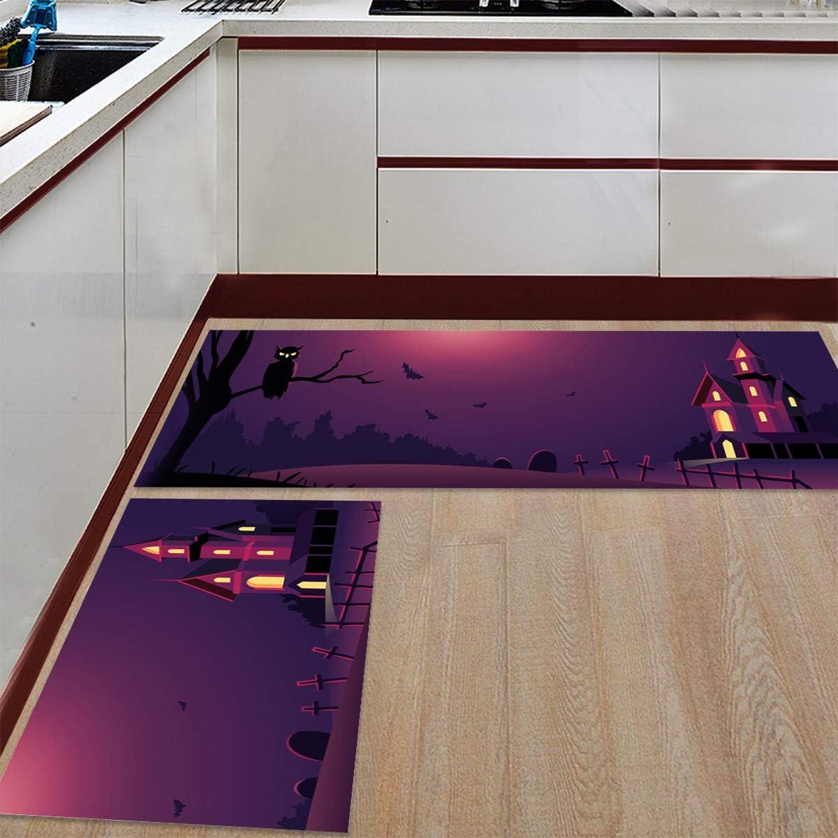 Womenfocus Kitchen Mat Set Manufacturer 4 years warranty regenerated product Anti-WearNon-Slip 2 Floor Pi Rug