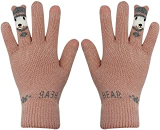 Women's Touch Screen Winter Gloves Soft Warm Knit Mittens Windproof Texting Gloves