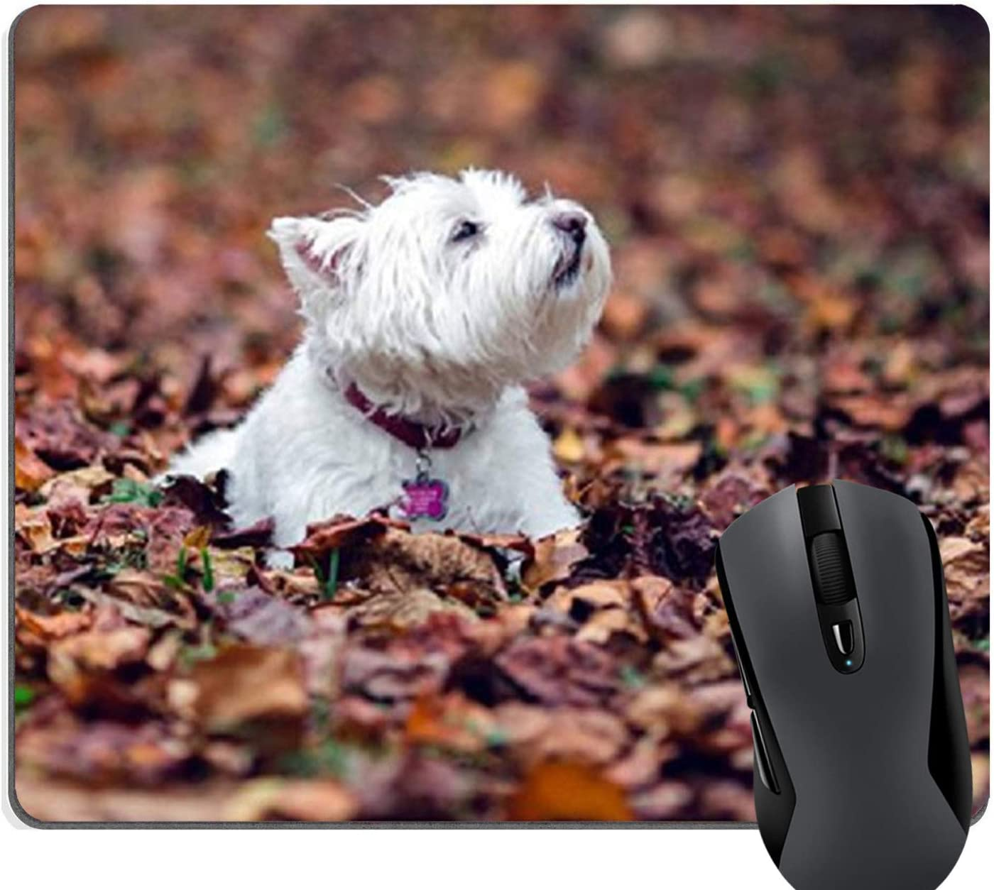 Knseva Lowest price challenge Westie Dog Mouse Pad Rectangle Max 48% OFF Customized Mousepad