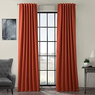 HPD HALF PRICE DRAPES BOCH-171125-84 Blackout Room Darkening Curtain, 50 X 84, Navajo Rust