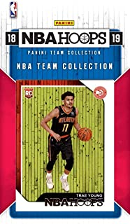 Atlanta Hawks 2018 2019 Hoops Basketball Factory Sealed 11 Card NBA Licensed Team Set with Rookie Cards of Trae Young, Omari Spellman and Kevin Huerter Plus