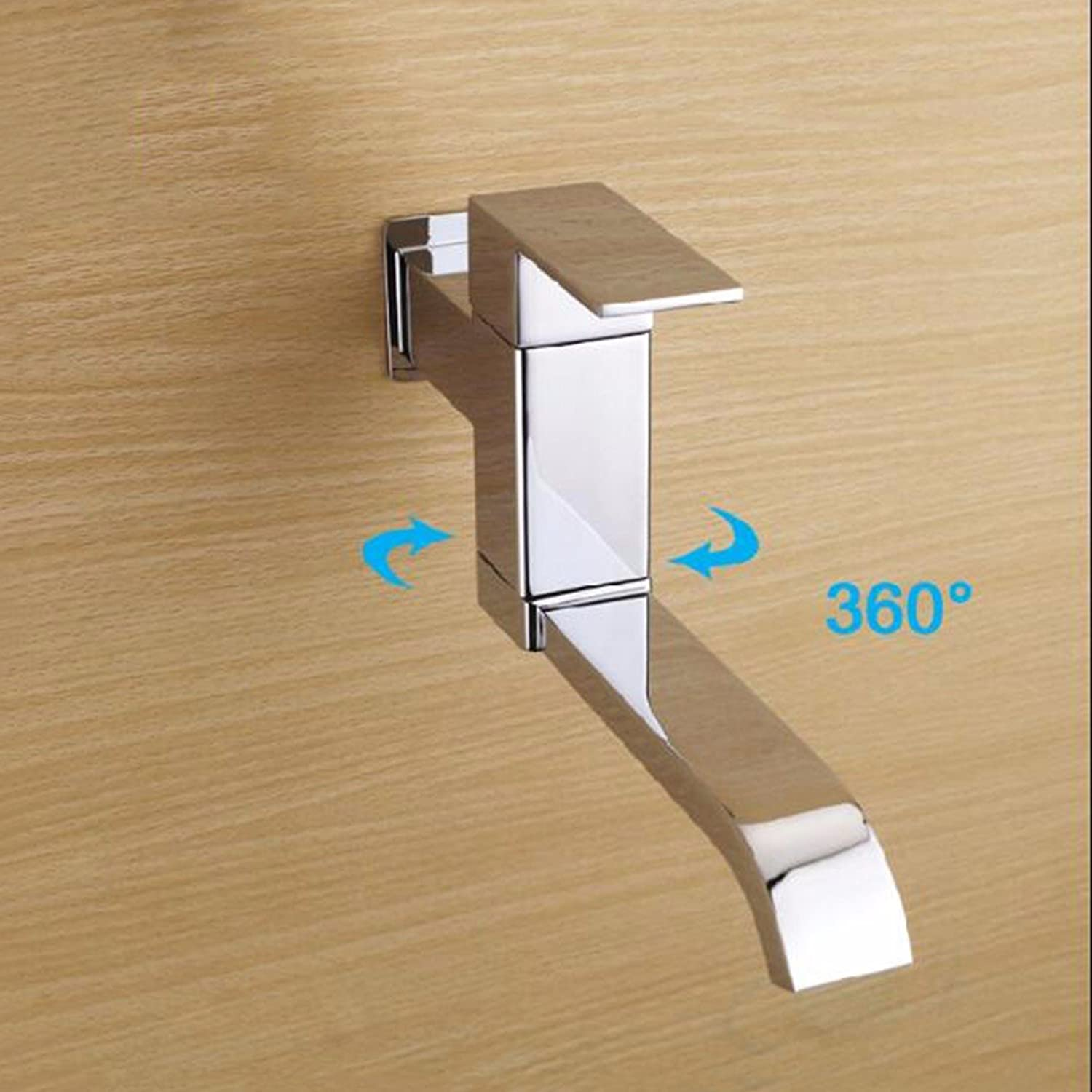 XJTNLB All copper kitchen faucet wall mounted single cold water tap lengthened balcony mop pool laundry pool faucet.