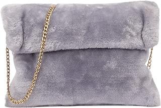 faux fur bag strap