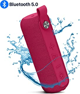 Bluetooth Speaker, Wireless Bluetooth 5.0 Portable Speakers with 66 ft Bluetooth Range, IPX5 Waterproof, Build-in Mic, Loud Stereo Sound, Rich Bass for Camping, Beach, Pool Party, Shower