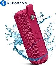 Altavoz Bluetooth, inalámbrico Bluetooth 5.0 Altavoces portátiles con rango de Bluetooth de 66 pies, IPX5 impermeable, micrófono integrado, sonido estéreo fuerte, graves ricos para camping, playa, fiesta en la piscina, ducha
