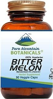 Bitter Melon Capsules - 90 Kosher Vegan Caps with 500mg Bitter Melon Extract