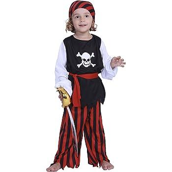 EraSpooky Pirata Niño Disfraz Traje Halloween: Amazon.es: Ropa y ...