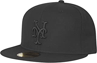 New Era York Mets Black On Black Cap 59fifty 5950 Fitted Special Limited Edition