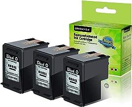 GREENCYCLE 3 PK Remanufactured 60XL 60 XL Black Ink Cartridge CC641WN Compatible for HP Deskjet D2530 D2545 F2430 F4224 F4440 F4480 Envy 100 110 111 114 120 Photosmart C4640 C4650 C4680 C4780 C4795