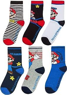Boys Assorted 6 Pack Multi-coloured Sock Set