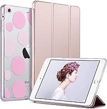 ULAK Funda para iPad Mini 1/2/3, [Serie Clásica] Carcasa Función de Despertador Automático Magnético y Sueño Smart Cubierta Trifold Soporte Caso para iPad Mini/iPad Mini 2/iPad Mini 3 - Oro Rosa