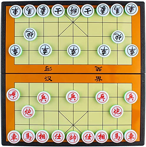 new arrival Larcele online sale Folding Magnetic Chinese Chess Xiangqi Strategy Board Gamefor Travel CXXQ-01 outlet sale (Medium) outlet online sale