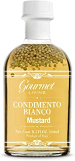 White Balsamic Vinegar with Mustard Seeds - Authentic Condimento Bianco with Senape from Modena, Italy - Natural Italian h...