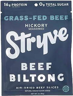 Sponsored Ad - Stryve Beef Biltong, Grass-fed Biltong Jerky, 16g Protein, 0g Sugar, 1g Carb, Gluten Free, No Hormones, No ...
