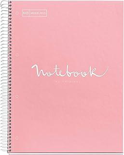 comprar comparacion MIQUELRIUS - Cuaderno Notebook Emotions - 1 franja de color, A4, 80 Hojas cuadriculadas de 5mm, Papel 90g, 4 Taladros, Cub...
