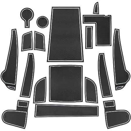 Lfotpp Kompatibel Mit Gummimatten Antirutschmatten Kona 17 Stücke Weiß Auto