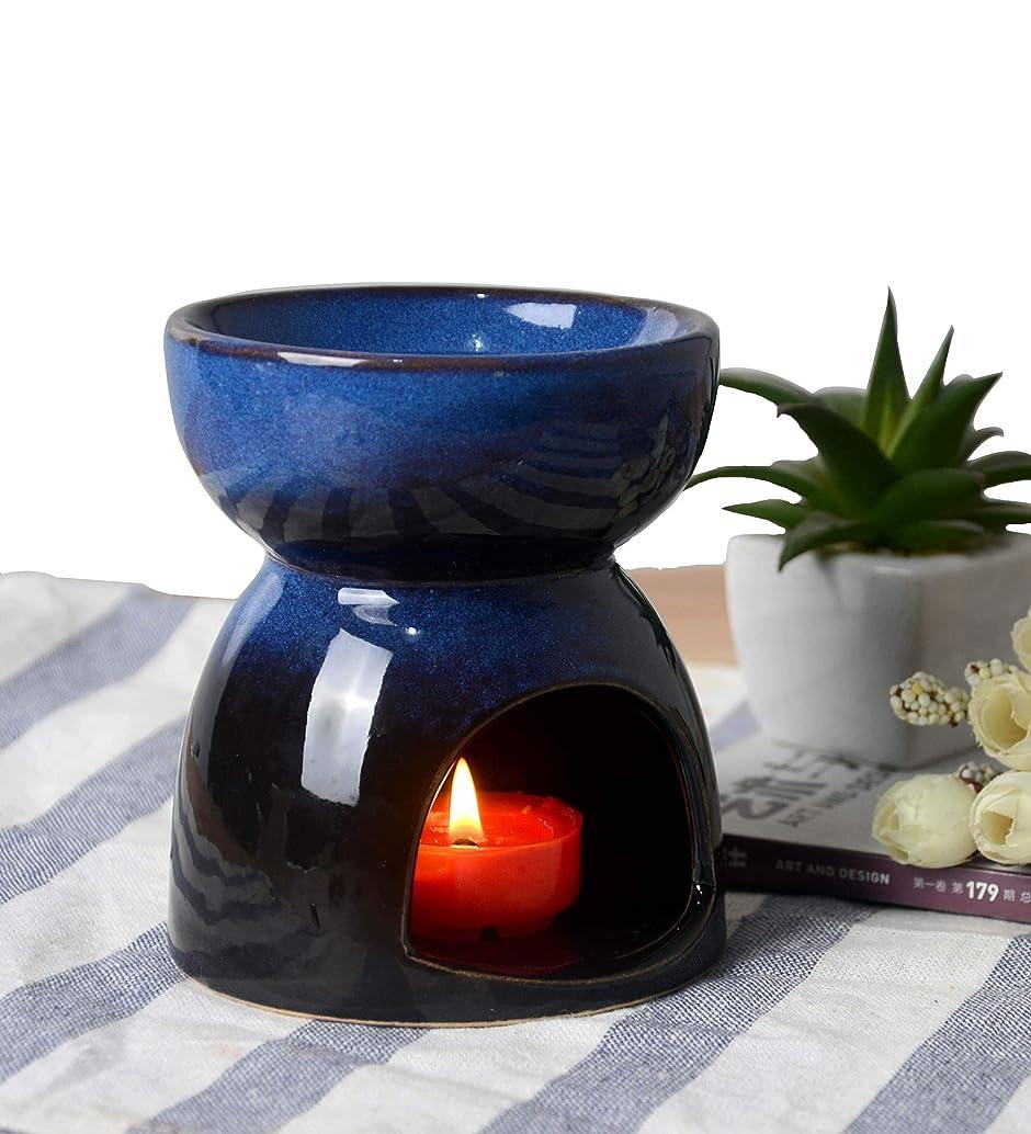 酸化物パノラマ燃やすHwagui お香 茶 香炉 アロマ炉 中空の彫刻工芸 癒し お茶の香り 陶器 置物 靑い