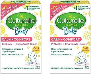 Culturelle Baby Calm + Comfort Probiotics + Chamomile Drops | Helps Reduce Occasional Infant Digestive Upset, 0.29 fl. oz....