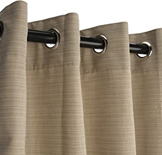 Sunbrella Outdoor Curtain with Nickle Grommets - Dupione Sand, 50x120