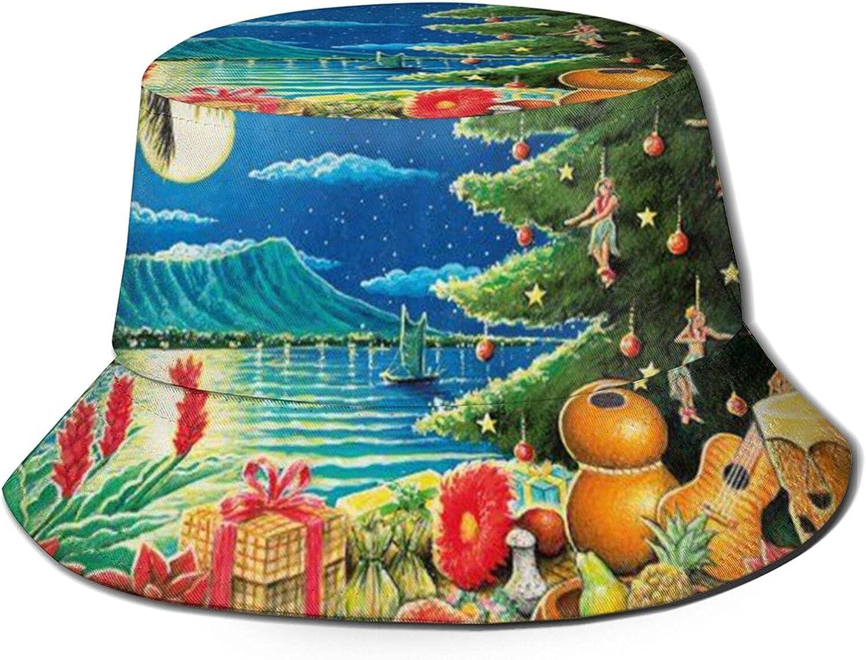 ZADPBB Christmas Hawaiian overseas Funny 5 popular Bucket Fisherman f Beach Hat