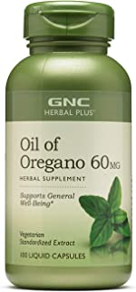 GNC Herbal Plus Oil of Oregano 60mg, 100 Capsules, Supports General Well-Being