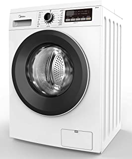 Midea 7 Kg 1400 RPM Front Load Automatic Washing Machine, White - MFG70, 1 Year Warranty