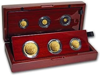 UK 2018 Great Britain 6-Coin Gold Britannia Proof Set Brilliant Uncirculated