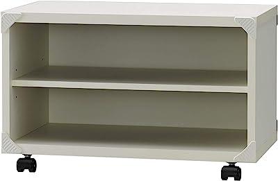 朝日木材加工 テレビ台 QF style 26型 ホワイト 簡単組立 キャスター付き AS-QF600-WW 約幅59.5×奥行33.3×高さ36.9cm