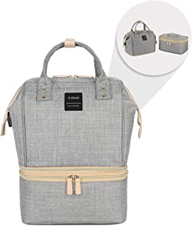 V-CoooL Diaper Backpack Spectra Breast Pump Bag Tote Storage Bag Breast Milk Preservation Package(Gray)