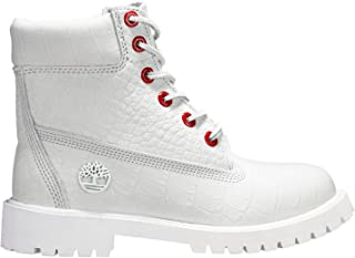 6 Inch Juniors Big Kids' Boots White Full-Grain tb0a1pkx