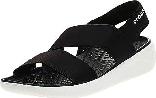 Crocs LiteRide Stretch Sandal W, Sandalias de Punta Descubierta Mujer