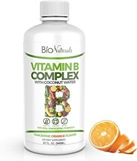 Bio Naturals Vitamin B Complex Liquid Supplement - 100% Natural Energy Boost with Vitamins B1 B2 B3 B5 B6 B12 & Organic Co...