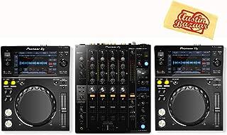 Pioneer XDJ-700 Compact Digital Player Bundle with DJM-750 Mixer and Austin Bazaar Polishing Cloth
