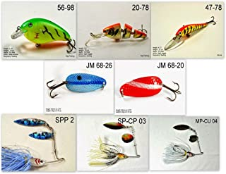 Akuna Pack of 8 Bass Fishing Lures for Each of The 50 States in USA