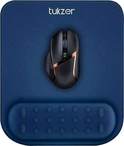 Tukzer Gel Mouse Pad Wrist Rest Memory-Foam Ergonomic Mousepad  Cushion Wrist Support & Pain Relief  Suitable for Gam...