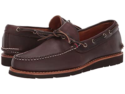 Sperry Gold Cup Handcrafted in Maine 1-Eye Camp Moccasin (Dark Brown) Men