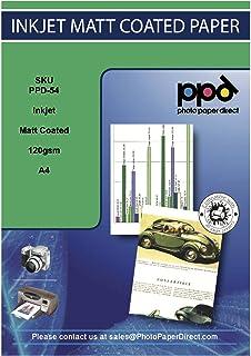 PPD Papel fotográfico con acabado mate para impresión con inyección de tinta 120 g/m² A4 X 50 hojas PPD-54-50