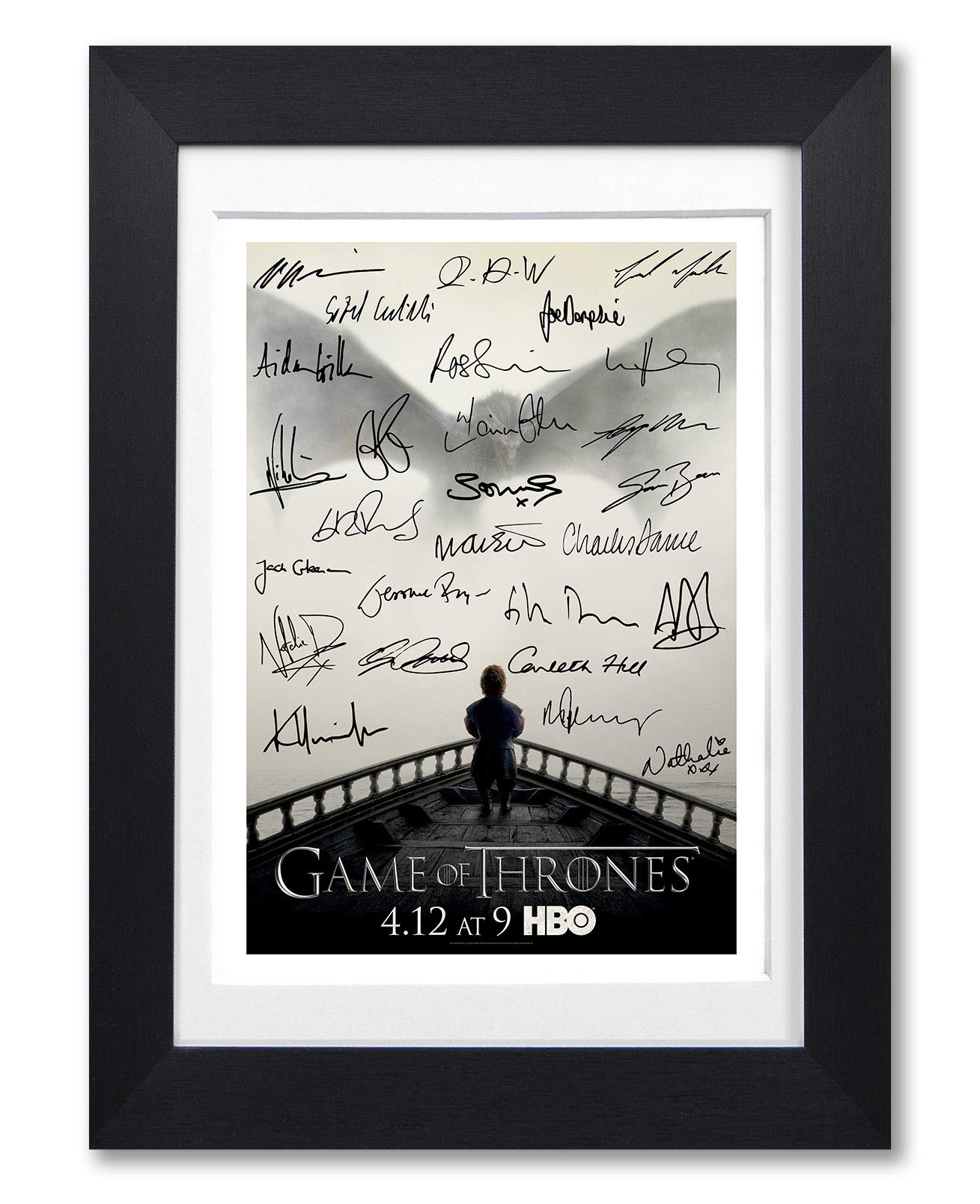 SEASON 7 CAST X 4 GAME OF THRONES SIGNED PHOTO PRINT AUTOGRAPH