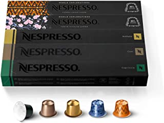 Nespresso Capsules OriginalLine, Mild Roast Blend Variety Pack, Mild Roast Coffee, 50 Count Espresso Coffee Pods, Brews 3....