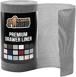 """Gorilla Grip Original Drawer and Shelf Liner, Non-Adhesive, Size (20"""" x 20'), Durable and Strong, Grip Liners for Drawers,..."""
