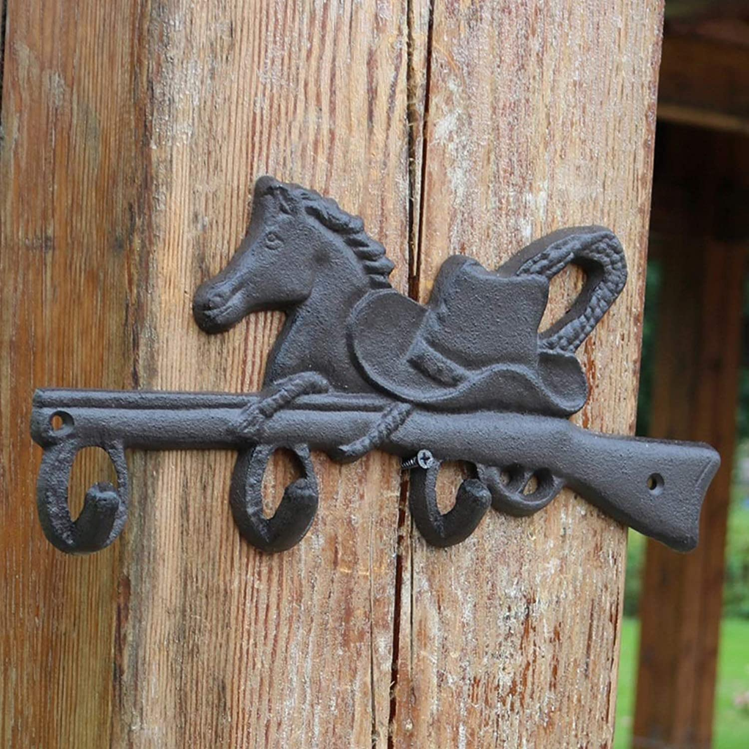 XUYRENP Country Retro Cast Iron Crafts Hook Wall Coat Hook Hook Cowboy Hook Home Decoration