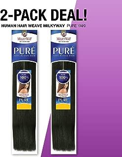 2-PACK DEALS! Human Hair Weave MilkyWay Pure Yaki (12