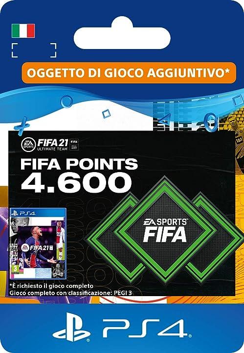 4600 fifa points Fifa 21 ultimate team  | codice download per ps4 (incl. upgrade gratuito a ps5) - account ita SCEE-XX-S0049957