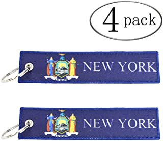 FYZARFLY U.S. State Flags USA American Flag Key Chain Tag Luggage Tags US Flag Souvenir for Motorcycles, Scooters, Cars and Gifts