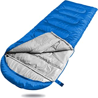 Winner Camping Sleeping Bag with Compression Sack,Mummy Hood with Zipper It's Portable and Lightweight for 3-4 Season Camping, Hiking, Traveling, Backpacking and Outdoor Activities