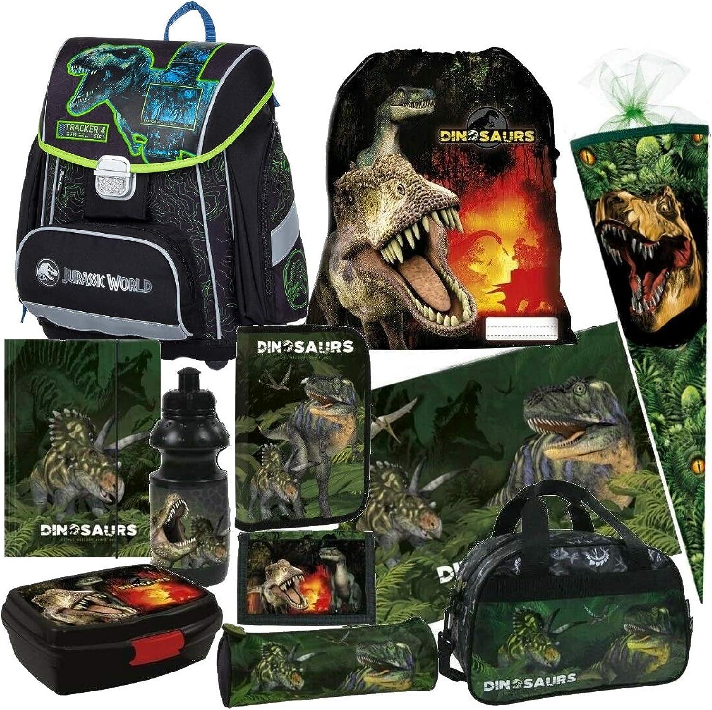 Dinosaurier Dino 11 Teile Set Set Set Schulranzen RANZEN Tasche TORNISTER SCHULTÜTE 85 cm Federmappe mit Sticker von Kids4shop B01DZ6K76W | Für Ihre Wahl  48117d