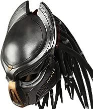 Predator Helmet Movie 1:1 Replica Resin Black Mask for Men Halloween Cosplay Costume