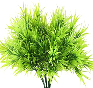 HO2NLE Outdoor Fake Plants, 4PCS Artificial Greenery Plants Plastic Grass Shrub Bushes for Home Kitchen Living Room Dining Table Centerpiece Arrangements Decorations